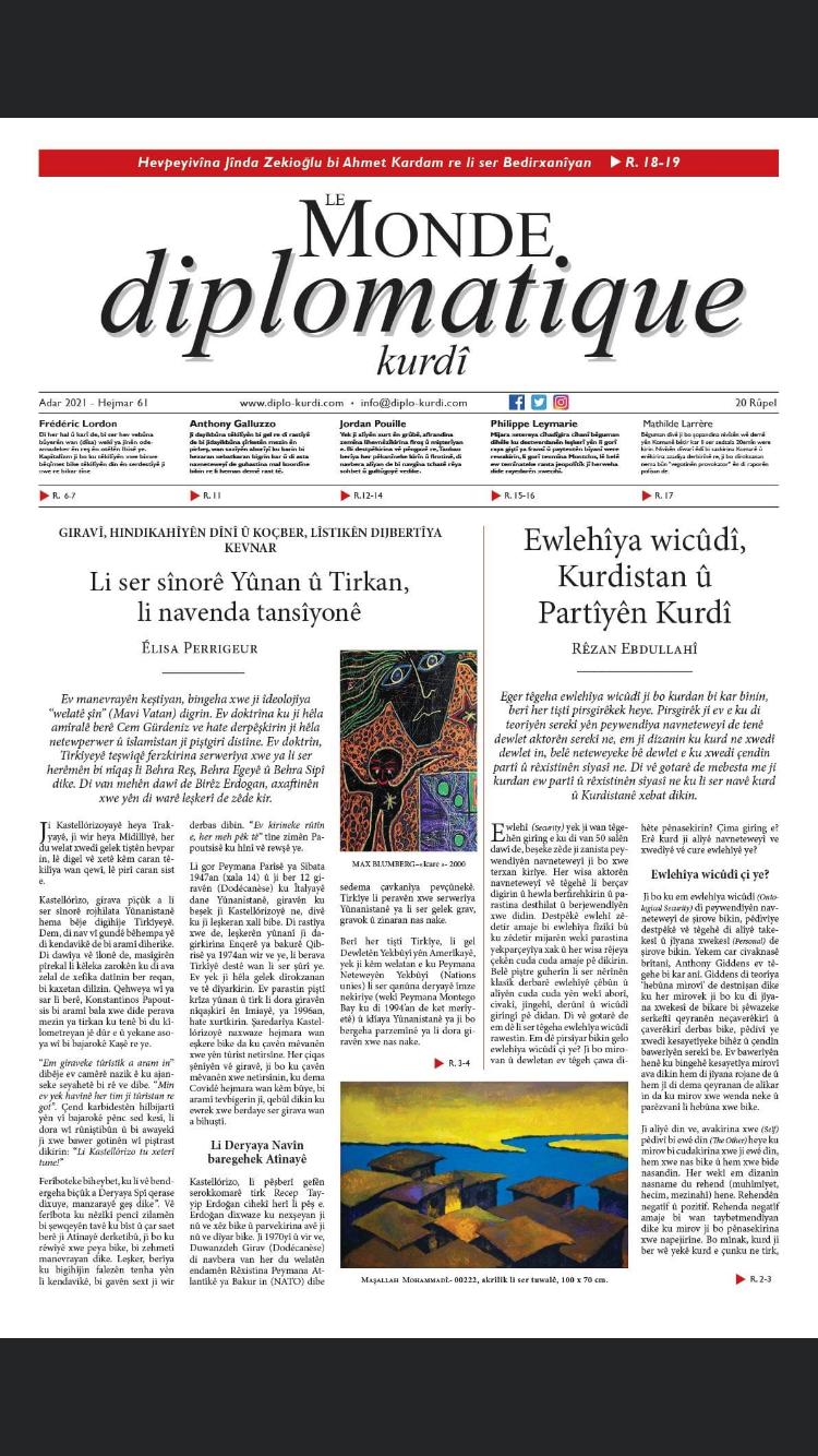 Hejmara 61ê ya Le Monde diplomatique kurdî derket!