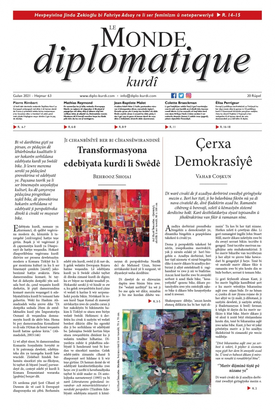 Hejmara 63an ya Le Monde diplomatique kurdî derket!