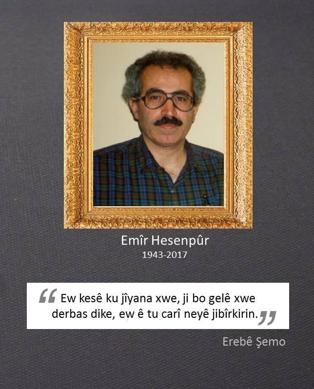 Emîr Hesenpûr (1943-2017),emîr,hesenpûr,1943,2017