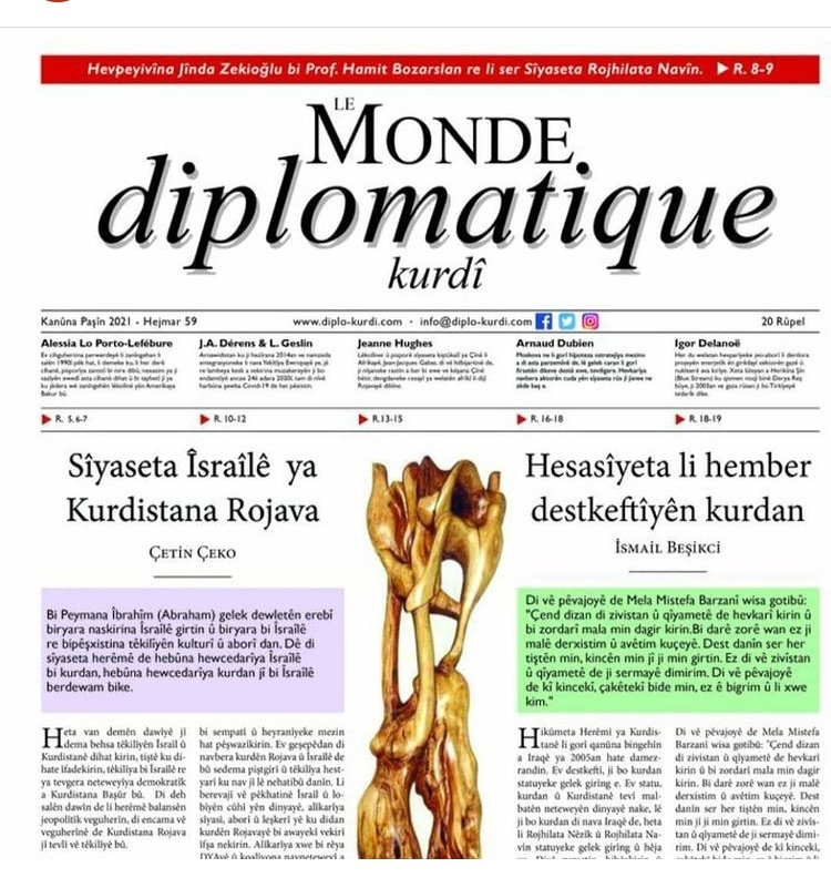 Hejmara 59an a Le Monde diplomatique kurdî derket!