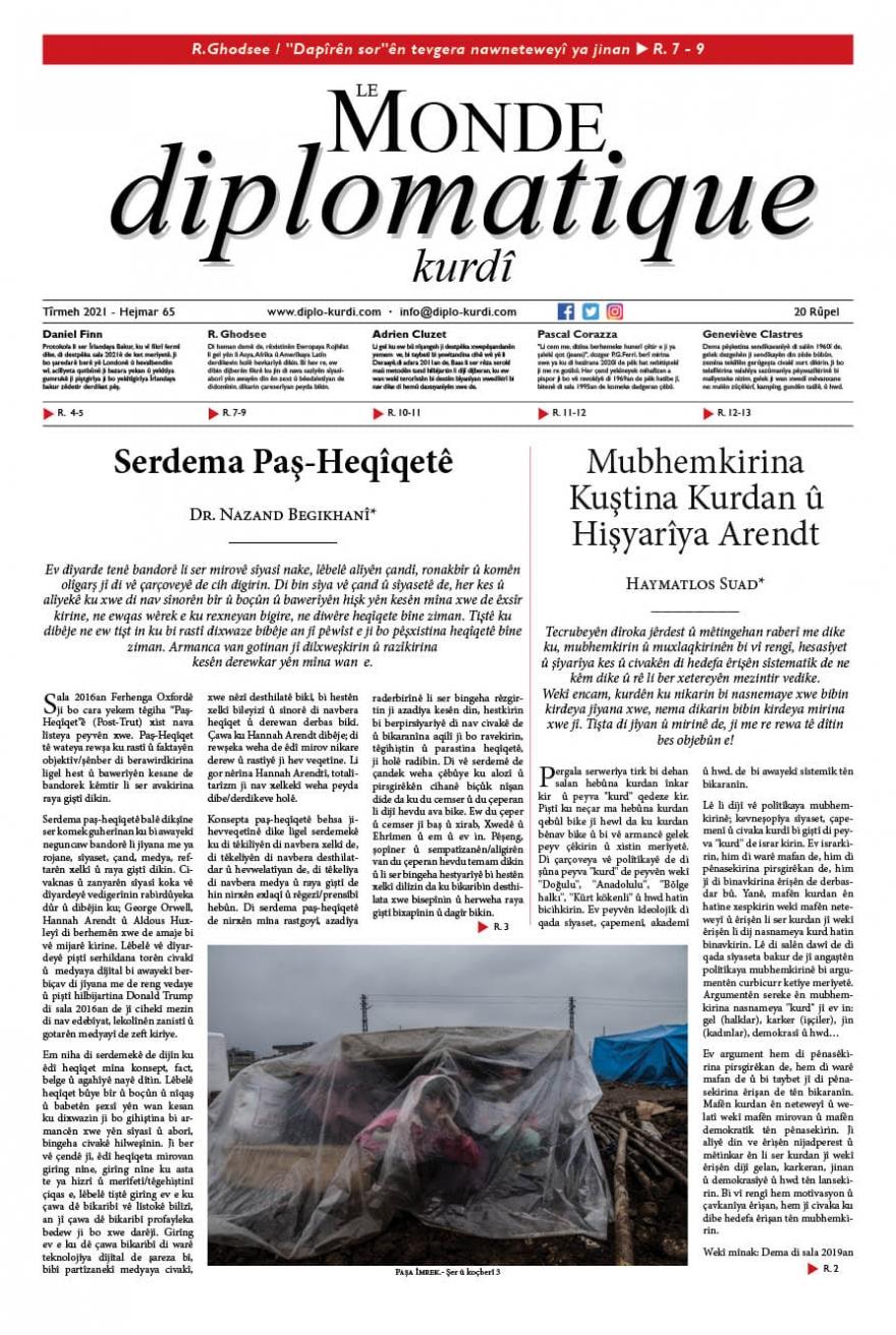 Hejmara 65an a Le Monde diplomatique kurdî derket!,hejmara,65an,a,le,monde,diplomatique,kurdî,derket