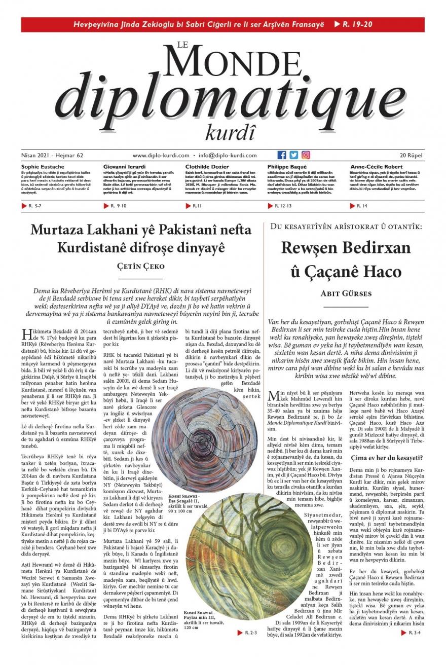 Hejmara 62an ya Le Monde diplomatique kurdî derket!