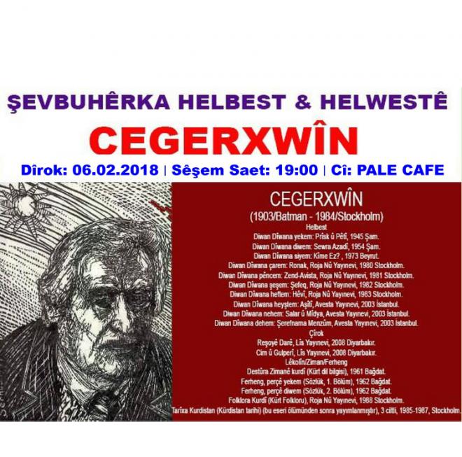 Helbestê Cegerxwîn Li ser Zimanê Hemû Kurdan e.
